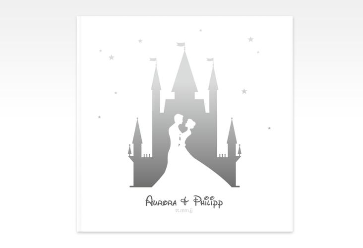"Gästebuch Creation Hochzeit ""Castle"" 20 x 20 cm, Hardcover grau"
