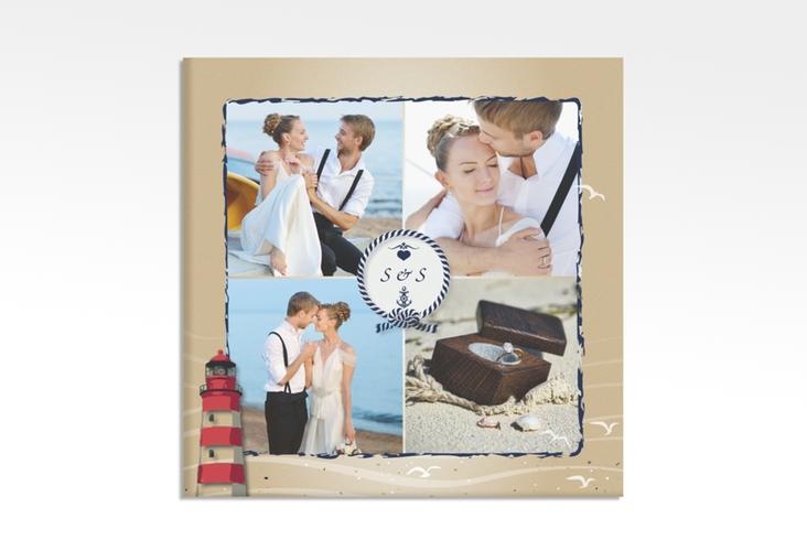 """Hochzeitscollage Leinwand """"Sylt"""" 30 x 30 cm Leinwand braun"""