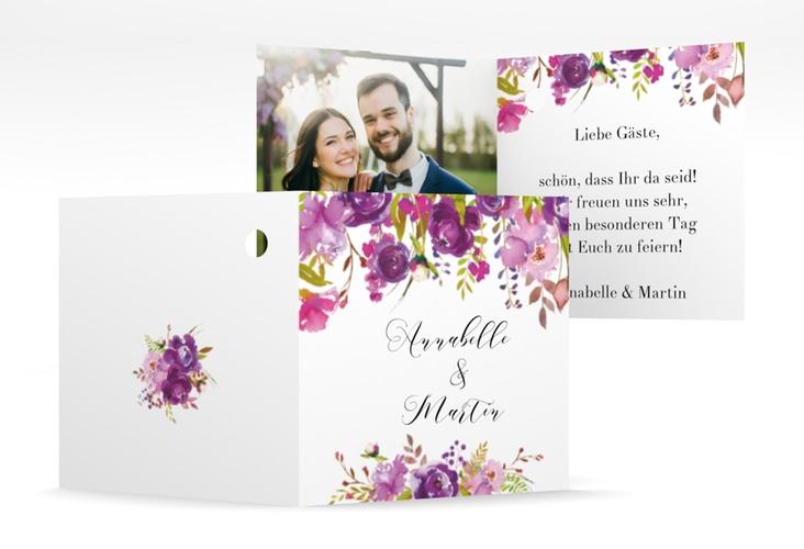 """Geschenkanhänger Hochzeit """"Violett"""" Geschenkanhänger 10er Set weiss"""