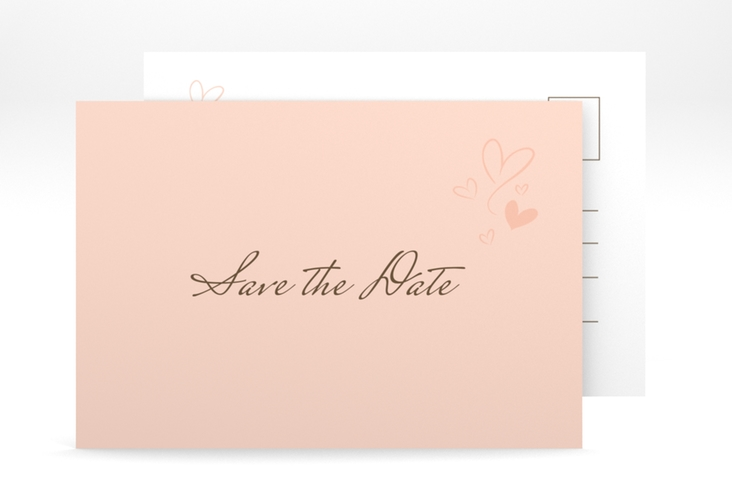 "Save the Date-Postkarte ""Purity"" A6 Postkarte apricot"