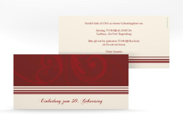 """Einladungskarte """"Katharina"""" DIN lang"""
