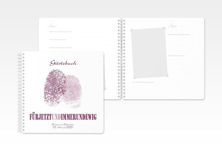 """Gästebuch Hochzeit """"Messina"""" Ringbindung"""