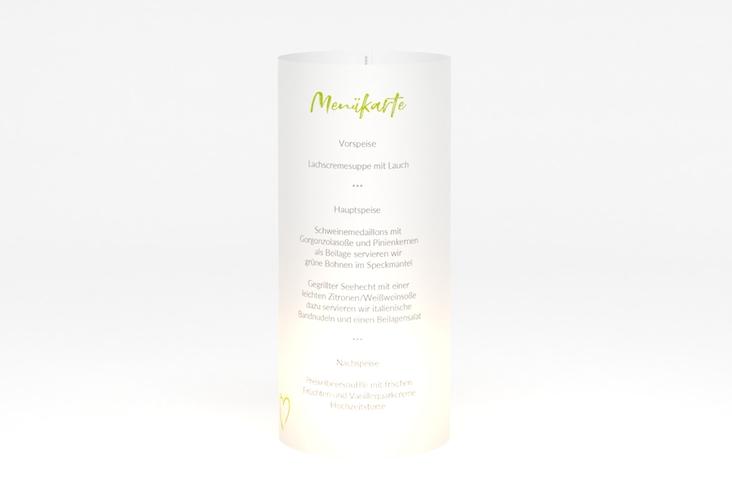 """Windlicht Menü Hochzeit """"Liebe"""" Windlicht gruen"""