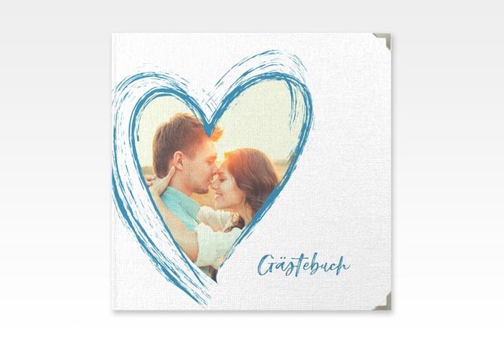 """Gästebuch Selection Hochzeit """"Liebe"""" Leinen-Hardcover tuerkis"""