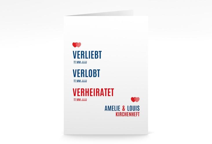 "Kirchenheft Hochzeit ""Couple"" DIN A5 geklappt rot"