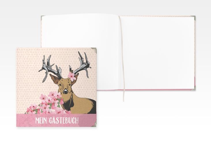 "Gästebuch Selection Geburtstag ""Platzhirsch"" Hardcover rosa"