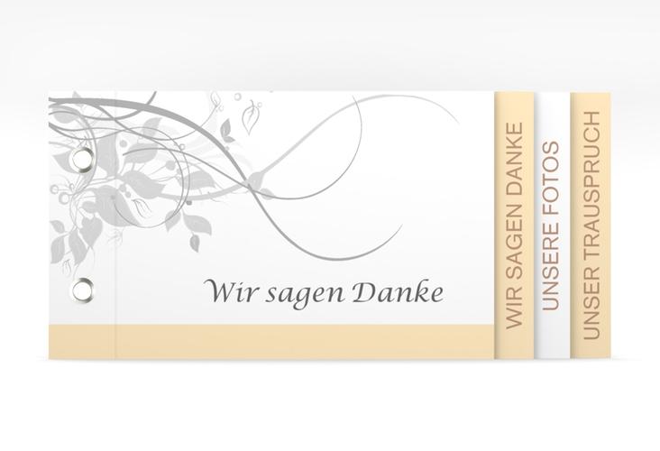 """Danksagungskarte Hochzeit """"Florenz"""" Booklet beige"""