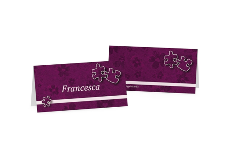 Segnaposti matrimonio collezione Bergamo Tischkarten