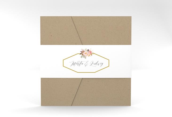 """Hochzeitseinladung """"Prachtvoll"""" Pocketfold"""