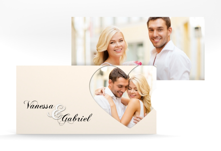 """Hochzeitseinladung """"Sweetheart"""" Einsteckkarte beige"""
