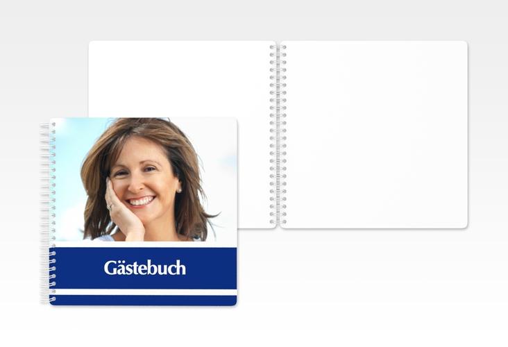 "Gästebuch Geburtstag ""Gerd/Gerda"" Ringbindung blau"