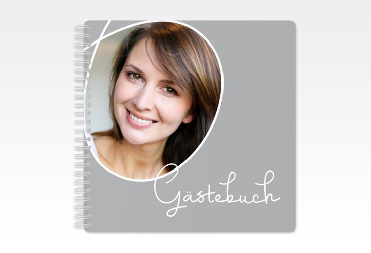 "Gästebuch Geburtstag ""Swing"" Ringbindung grau"