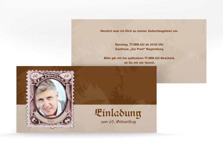 """Einladungskarte """"Ludwig"""" DIN lang"""