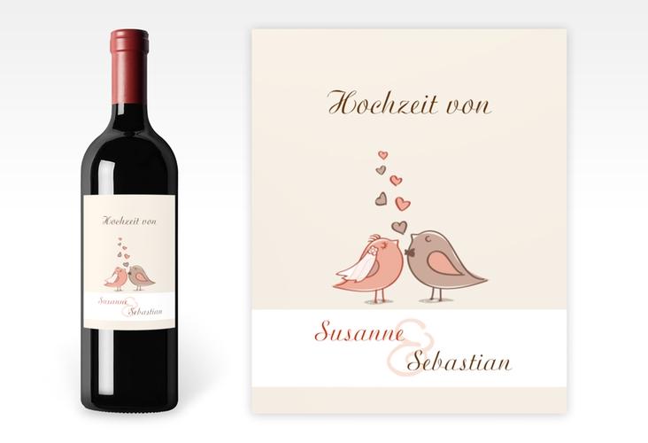 """Weinflaschenetikett Hochzeit """"Venedig"""" Etikett Weinflasche 4er Set"""