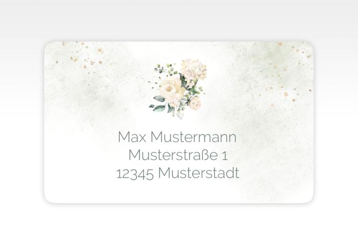 """Empfängeretikett Hochzeit """"Adore"""" 63,5 x 38,1 mm gruen"""