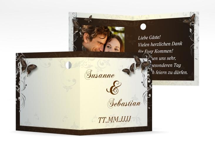 "Geschenkanhänger Hochzeit ""Toulouse"" Geschenkanhänger 10er Set braun"