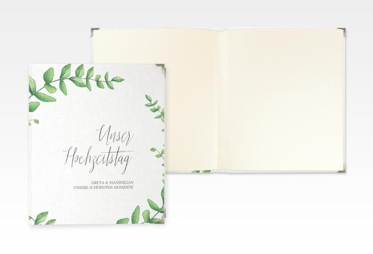 """Hochzeitsalbum """"Botanic"""" 21 x 25 cm weiss"""