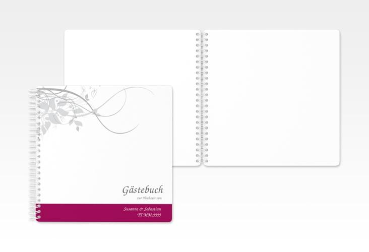 "Gästebuch Hochzeit ""Florenz"" Ringbindung pink"