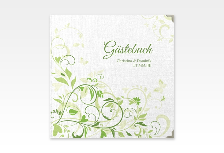 "Gästebuch Selection Hochzeit ""Lilly"" Leinen-Hardcover gruen"