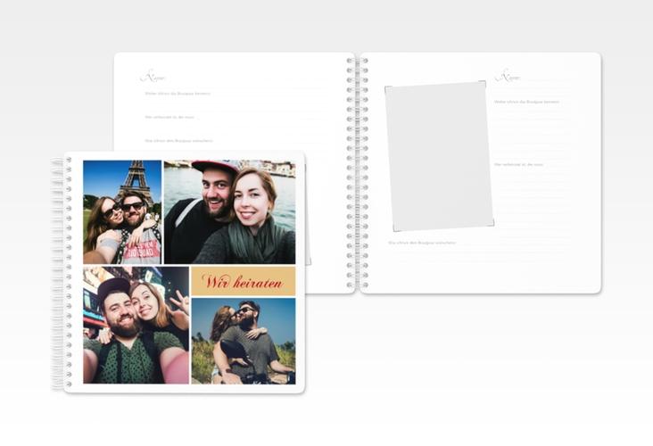"""Gästebuch Hochzeit  """"Collage"""" Ringbindung"""