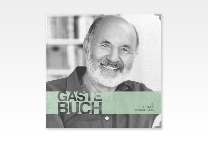"Gästebuch Selection Geburtstag ""Banderole"" Leinen-Hardcover tuerkis"