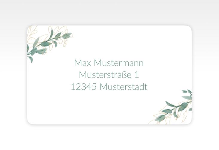 """Empfängeretikett Hochzeit """"Verde"""" 63,5 x 38,1 mm weiss"""