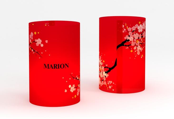 """Windlicht Hochzeit """"Sakura"""" Windlicht rot"""