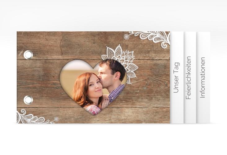 """Hochzeitseinladung """"Spitze"""" Booklet"""