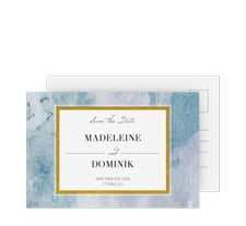 """Save the Date-Postkarte """"Marble"""""""