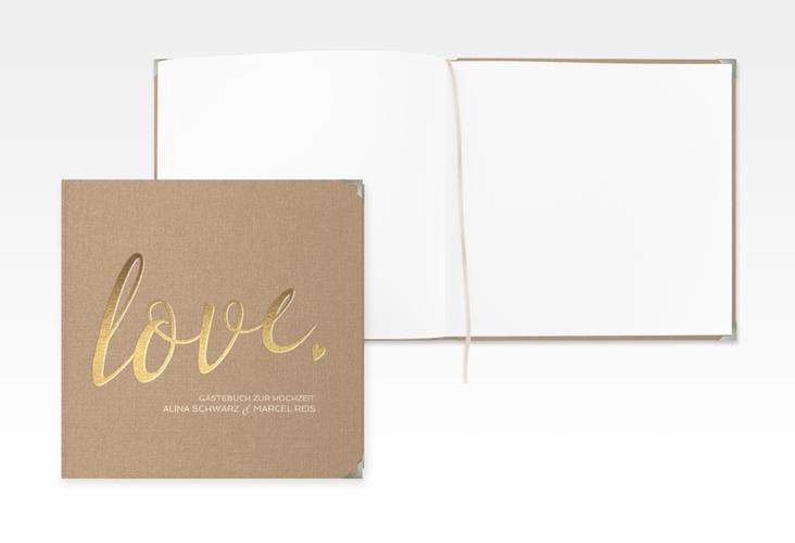 """Gästebuch Selection Hochzeit """"Glam"""" Leinen-Hardcover"""