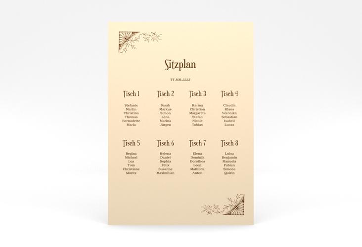 """Sitzplan Poster Hochzeit """"Storybook"""" 50 x 70 cm Poster"""