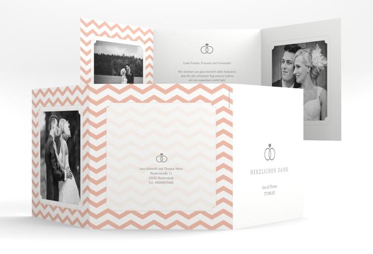 """Dankeskarte Hochzeit """"Avery"""" Quadr. Karte doppelt"""