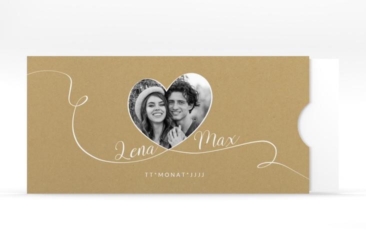 """Hochzeitseinladung """"Herzensbund"""" Einsteckkarte weiss"""