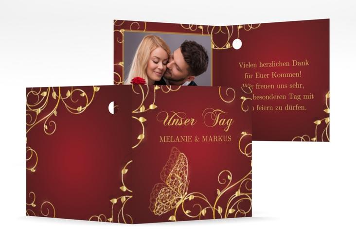 "Geschenkanhänger Hochzeit ""Eternity"" Geschenkanhänger 10er Set rot"
