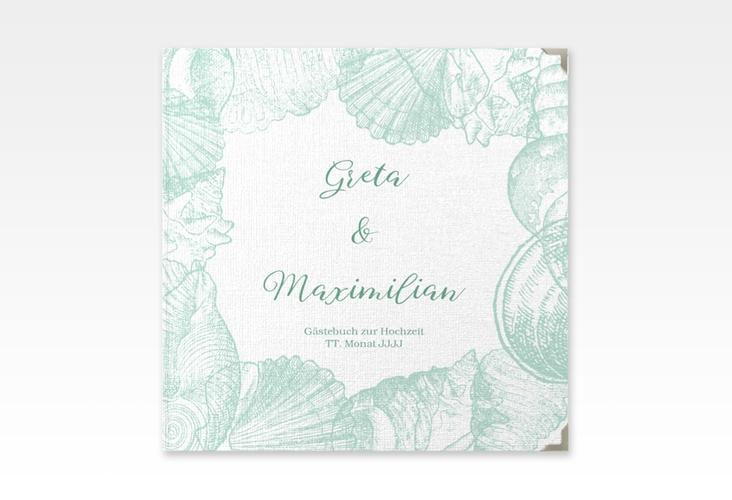 """Gästebuch Selection Hochzeit """"Muschelreich"""" Hardcover mint"""