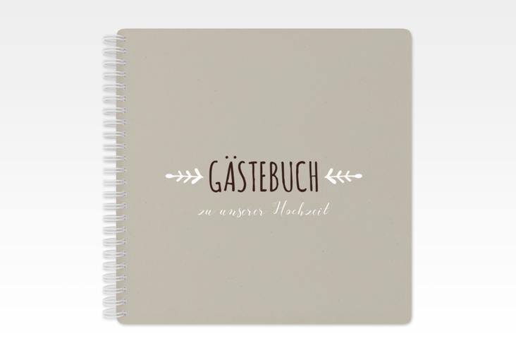 "Gästebuch Hochzeit ""Eden"" Ringbindung weiss"