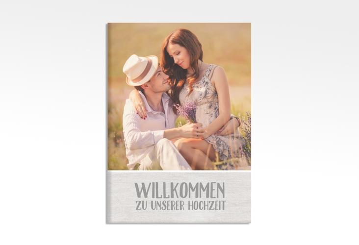 """Willkommensschild Hochzeit """"Landliebe"""" 50 x 70 cm Leinwand weiss"""