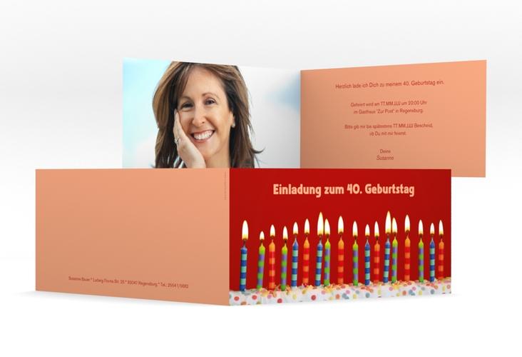 "Einladungskarte ""Candles"" DIN lang Klappkarte"