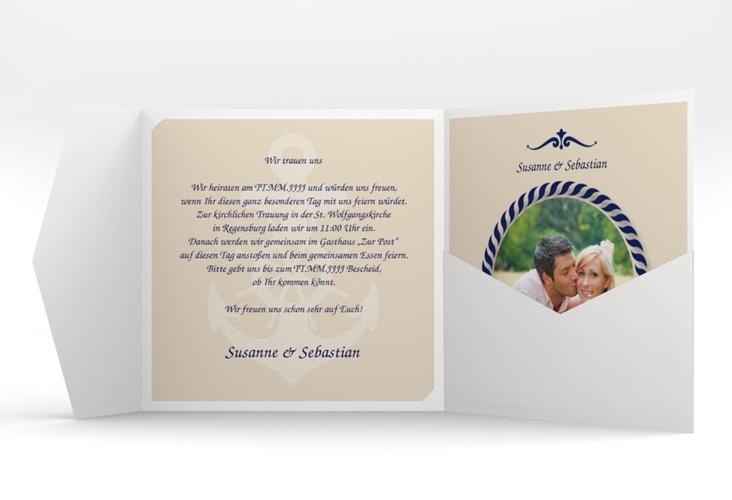 """Hochzeitseinladung """"Sylt"""" Pocketfold"""
