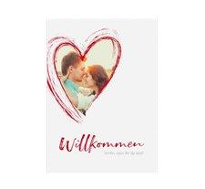 """Willkommensschild Poster """"Liebe"""""""