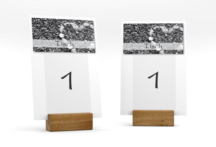 """Tischnummer Hochzeit """"Bilbao"""" Tischaufsteller weiss"""