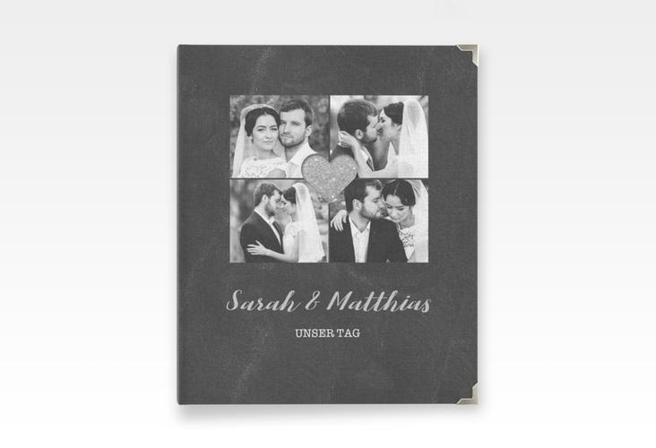 """Hochzeitsalbum """"Sparkly"""" 21 x 25 cm grau"""
