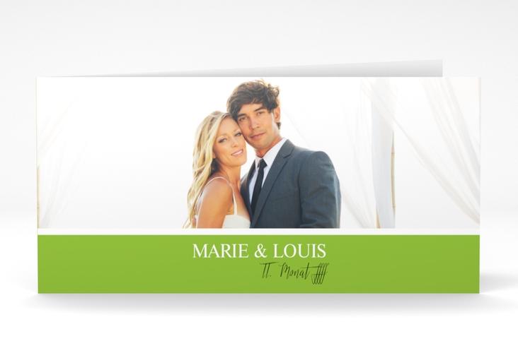 """Danksagungskarte Hochzeit  """"Balance"""" DIN lang Klappkarte"""