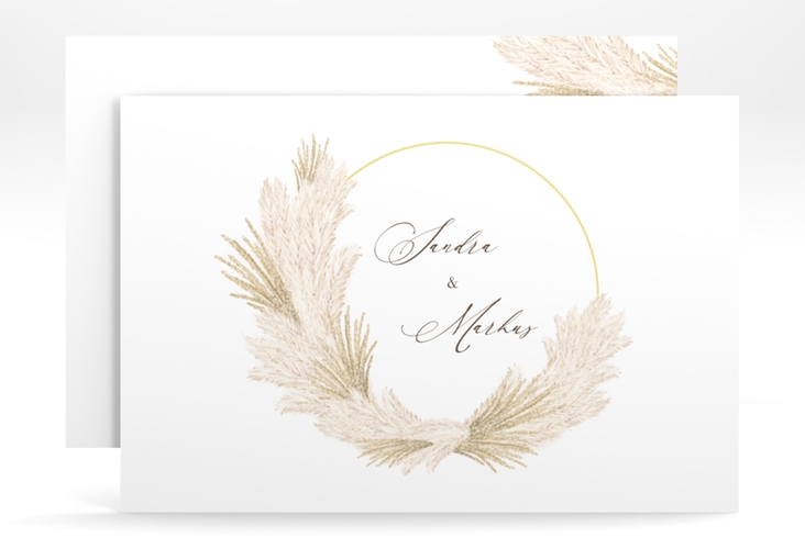 "Save the Date-Karte ""Pumila"" A6 quer weiss"