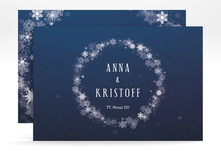 "Save the Date-Karte ""Winterdream"" A6 quer"
