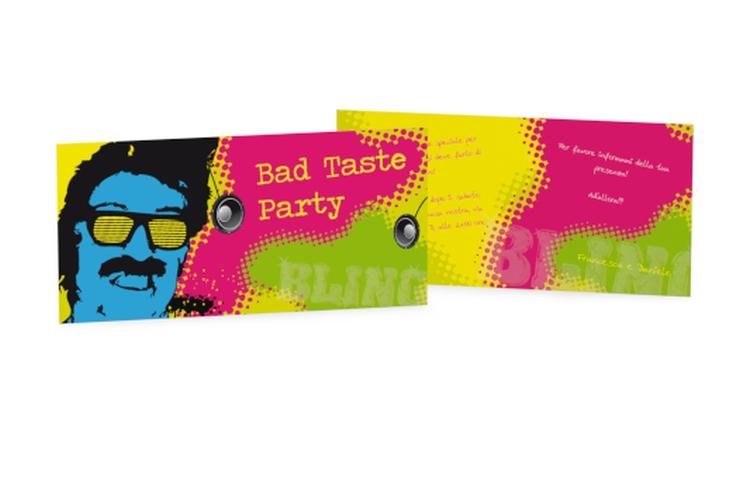 Biglietti di invito bad taste DIN lang