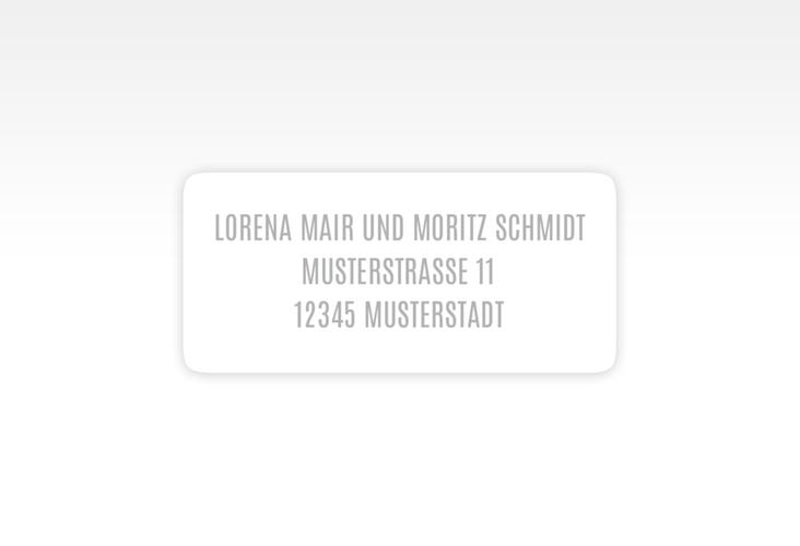 """Absenderetikett Hochzeit """"Memory"""" 45,7 x 21,2 mm"""