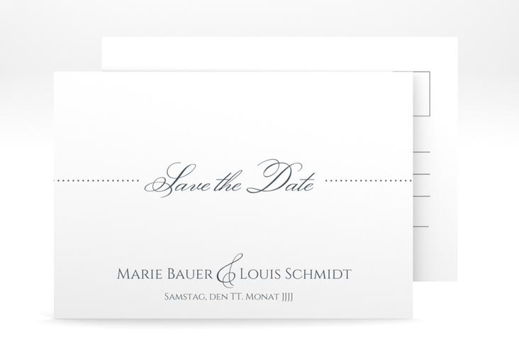 """Save the Date-Postkarte """"Pure"""" A6 Postkarte"""