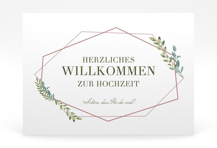 """Willkommensschild Poster """"Herbarium"""" 70 x 50 cm Poster rosa"""