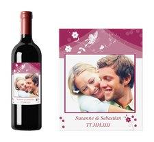"""Weinflaschenetikett Hochzeit """"Verona"""""""
